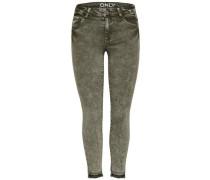 Skinny Fit Jeans oliv