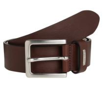 Leder-Gürtel 'Mino Belt 3' braun / silber