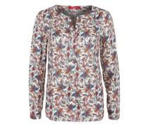 Tunika mit floralem Allover-Print mischfarben