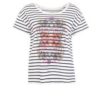 Printshirt mit Rundhalsausschnitt navy / weiß