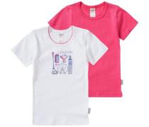 Doppelpack Unterhemden pink