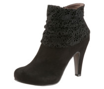 High Heel Stiefelette mit Plateau schwarz