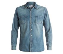 Langarm-Hemd »Heat Melt« blau