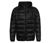 Steppjacke 'Hooded puffer jacket' schwarz