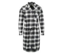 Blusenkleid mit Gürtel schwarz / weiß