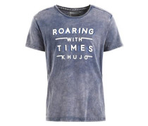 Shirt 'teken' rauchblau