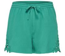 Detaillierte Shorts jade