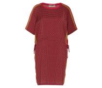 Kleid mit Mustermix himbeer / rotmeliert