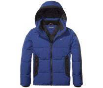 Jacke 'ame Thkb Padded Printed Jacket' blau / schwarz