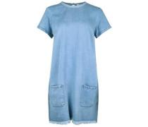 Jeanskleid mit Fransen blau / blue denim / hellblau