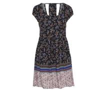 Bedrucktes Kleid mit kurzen Ärmeln mischfarben
