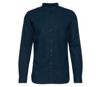 Hemd mit Stehkragen 'Jeromy B' dunkelblau