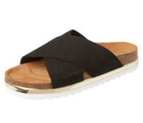 Leder-Sandalen schwarz