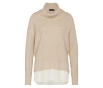 Woll-Pullover mit Kaschmir-Anteil braun