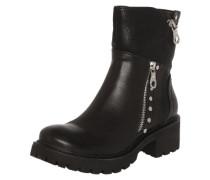 Boots im Leder-Look schwarz