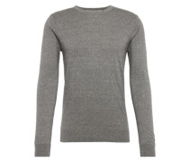 Pullover 'Crewneck pull in cotton melange quality' graumeliert
