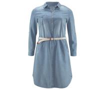 Jeanskleid (Set 2 tlg. mit Gürtel) blau