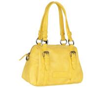 Lena Vintage Schultertasche 29 cm gelb