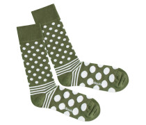 Socken 'Dot Stripe Nature'