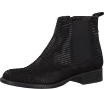 Leder-Chelsea Boots schwarz