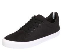 Sneaker in Leder-Optik schwarz