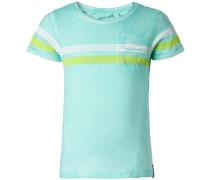 T-shirt 'Fabens' türkis / hellgrün