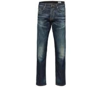 Dunkelblaue Jeans dunkelblau
