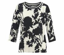 Bluse 'Gaia' schwarz / weiß