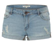 Jeansshorts im Used-Look hellblau