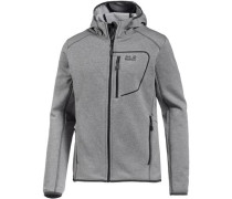 'Skyland Hooded' Fleecejacke Herren grau