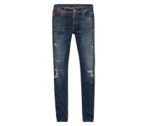 'hendrix D' Destroyed Jeans blue denim