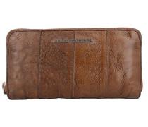Wildly Geldbörse Leder 19 cm braun