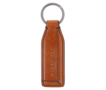 Passpartout Schlüsselanhänger Leder 3 cm braun
