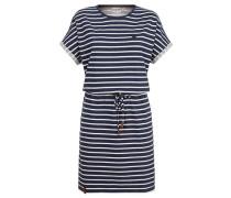 Kleid 'Blaues Licht' nachtblau / weiß