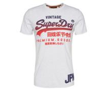 T- Shirt mit Rundhals weiß