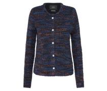 Blazer aus Wolle nachtblau / orange