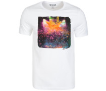 Summer Photo T-Shirt Herren weiß