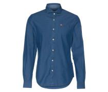 Hemd mit Haifisch-Kragen 'Gotha' blue denim