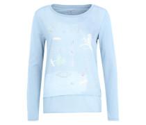 Langarmshirt in Lagenlook rauchblau / mischfarben