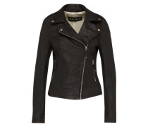 Lederjacke 'Ideal' schwarz