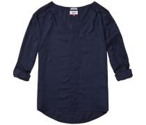"Blusen ""Basic viscose blouse l/s 9"" navy"