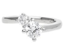 Damen Fingerring 925 Silber Silber Svelte Sparkle Esrg92139A silber