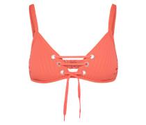 Bikinitop 'Lace Up Bralette' koralle