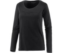 Langarmshirt Damen schwarz