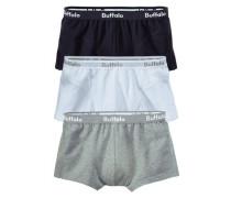 Baumwoll-Hipster (3 Stck.) grau / schwarz / weiß