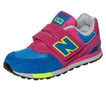 Sneaker Kinder blau / neongelb / dunkelpink