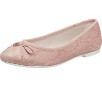 Ballerina in Lackleder-Optik rosa