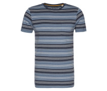 T-Shirt 'cn mel strip ss T-Shirts short sleeve' blau