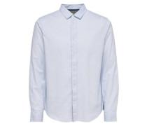 Langarmhemd Klassisch blau