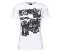 T-Shirt mit Print 'Joe' weiß